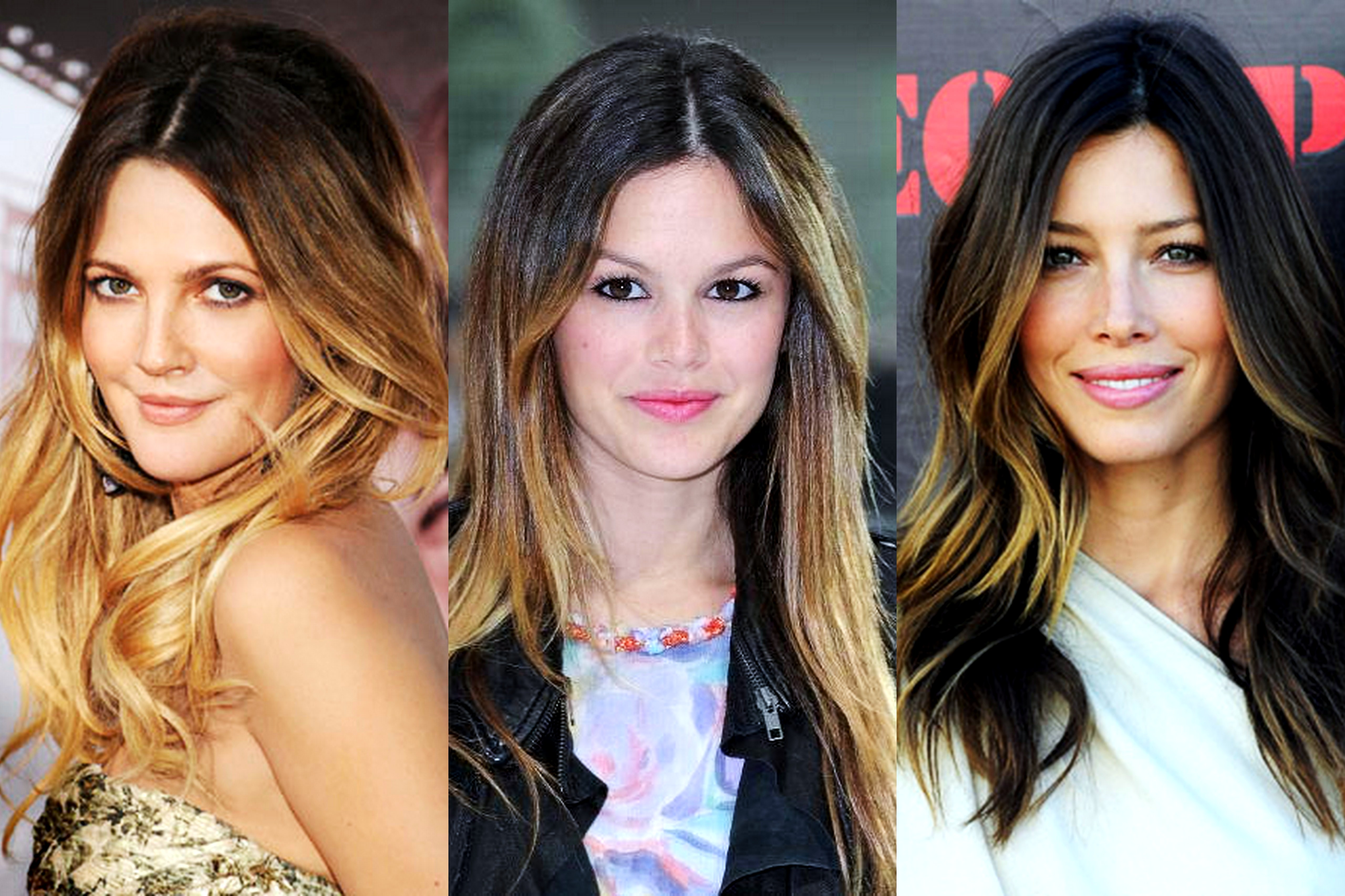 Shatush ombre hair hairstyle hair punte bionde schiarire punte capelli