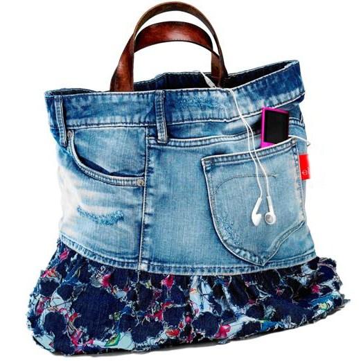 Specchio e dintorni come realizzare borse fai da te for Borse fai da te jeans