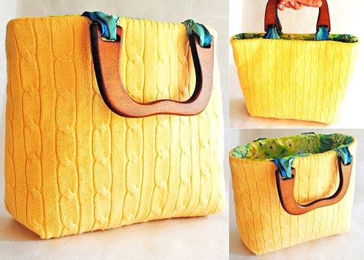 24c31659ee borse borsa fai da te diy riciclare vecchio maglione cardigan moda  accessori shopping bag tutorial