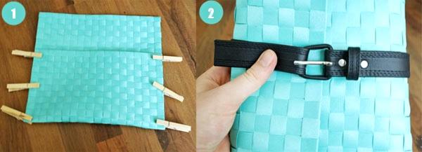 clutch diy fai-da-te borsa borse pochette facile cucire riuso creativo riciclare la stoffa moda fai-da-te