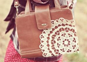 borsa fai-da-te diy bag pizzo centrino svecchiare rinnovare accessori moda fashion
