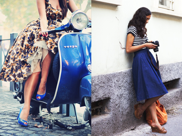 gonna a ruota round skater skirt come indossare portare abbinare moda fashion blog blogger