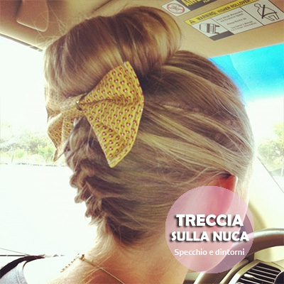 bow fiocco capelli hairstyle acconciature pettinature beauty blog blogger bellezza capelli donne