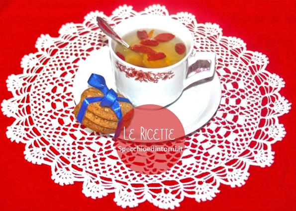 infuso bacche di goji, chiodi di garofano, arancia ricetta rimedi naturali tosse