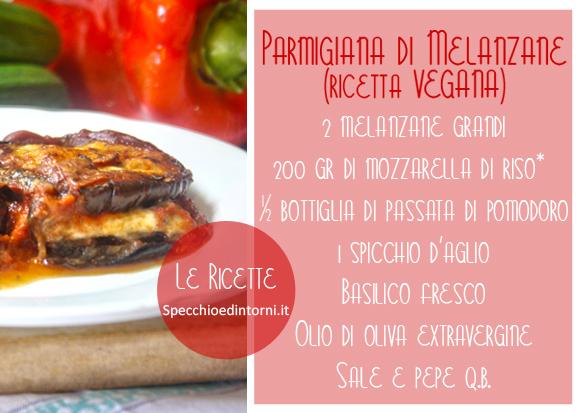 parmigiana melanzane vegana veg vegetariana senza carne mozzarella ricette facili ingredienti