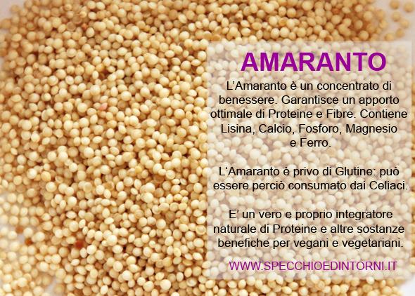 Amaranto : proprietà, benefici e ricette
